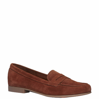 Penny Loafers en cuir flexible, Brun, 513-3196 - 13