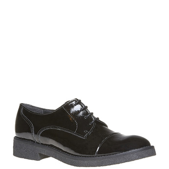 Chaussure lacée vernie femme bata, Noir, 521-6317 - 13