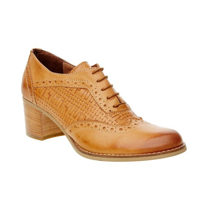 Chaussure à talon en cuir bata, Brun, 624-3386 - 13