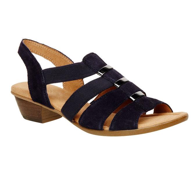 Sandale en cuir femme gabor, Violet, 666-9002 - 13