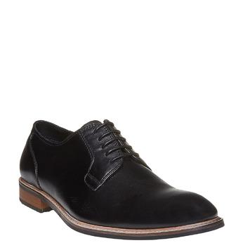 Chaussure lacée en cuir pour homme style Derby bata, Noir, 824-6280 - 13