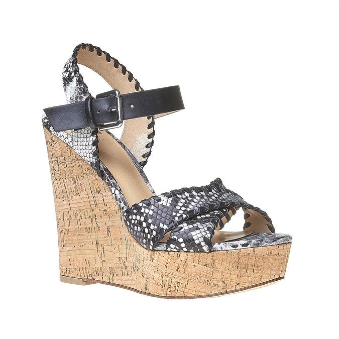 Sandale à plateforme bata, Noir, 761-6527 - 13