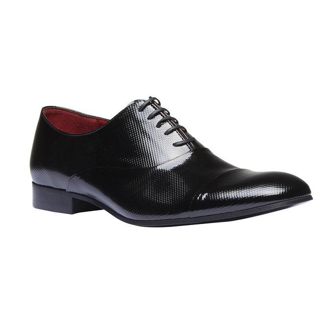 Chaussure lacée en cuir pour homme, Noir, 824-6830 - 13