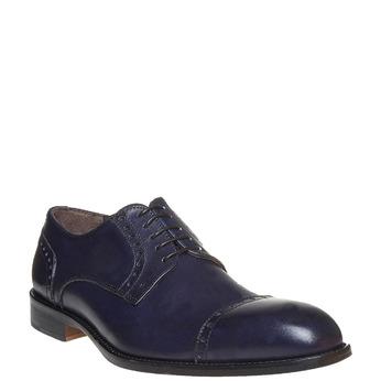 Chaussures bleues en cuir bata-the-shoemaker, Bleu, 824-9192 - 13