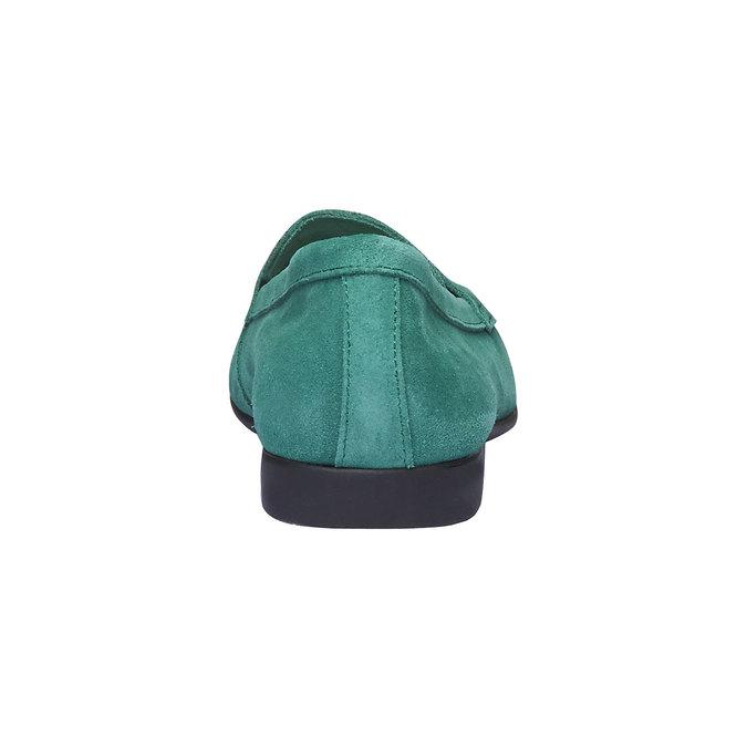 Penny Loafers en cuir flexible, Vert, 513-7196 - 17