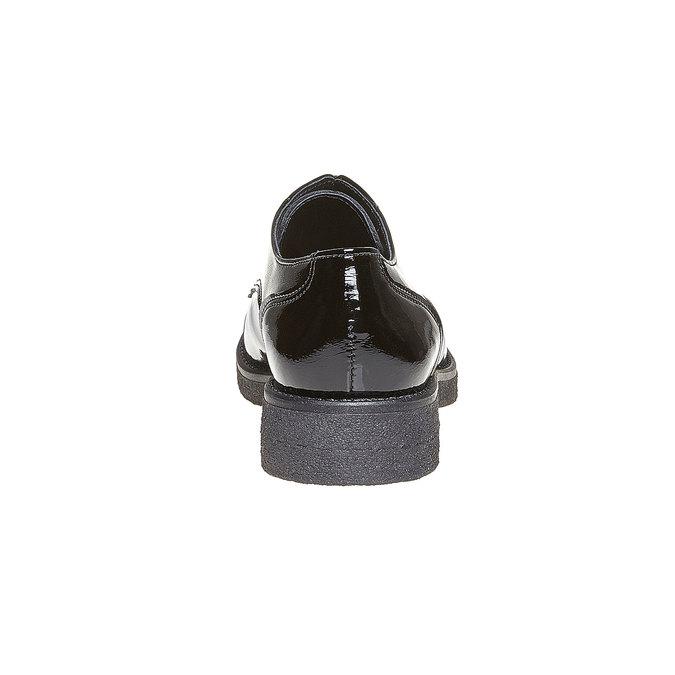 Chaussure lacée vernie femme bata, Noir, 521-6317 - 17