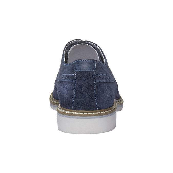 Chaussure lacée en cuir avec décoration Brogue bata, Violet, 823-9603 - 17