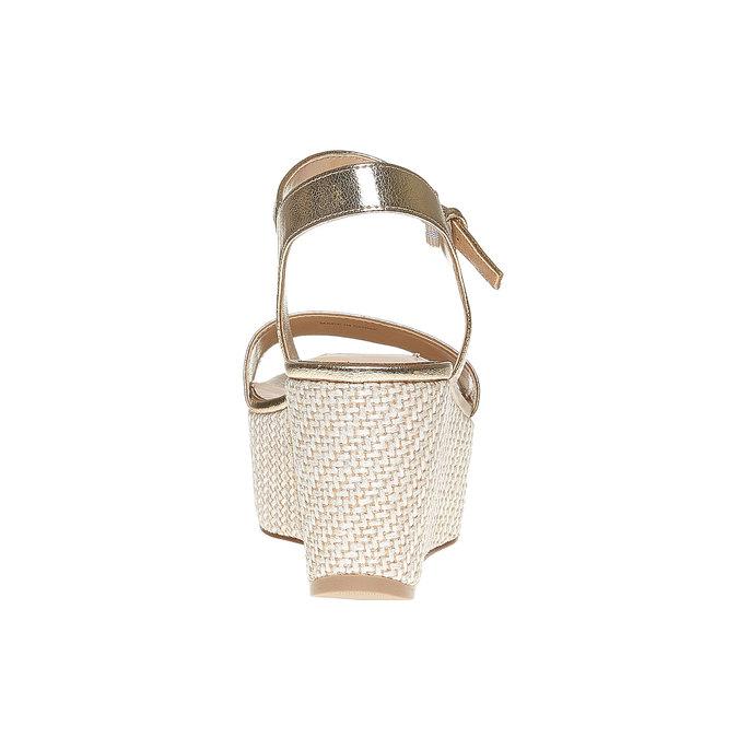 Sandale dorée à plateforme bata, Jaune, 761-8530 - 17