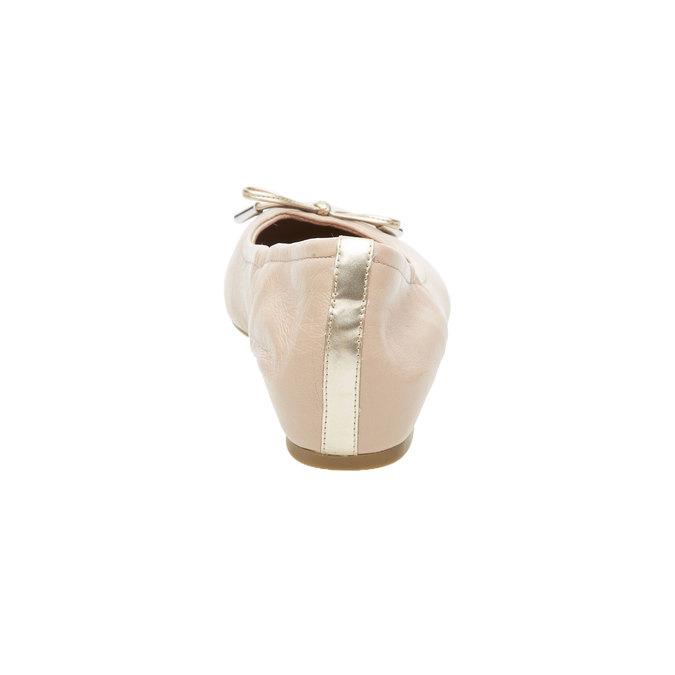 Ballerine en cuir couleur peau rockport, Beige, 524-8121 - 17
