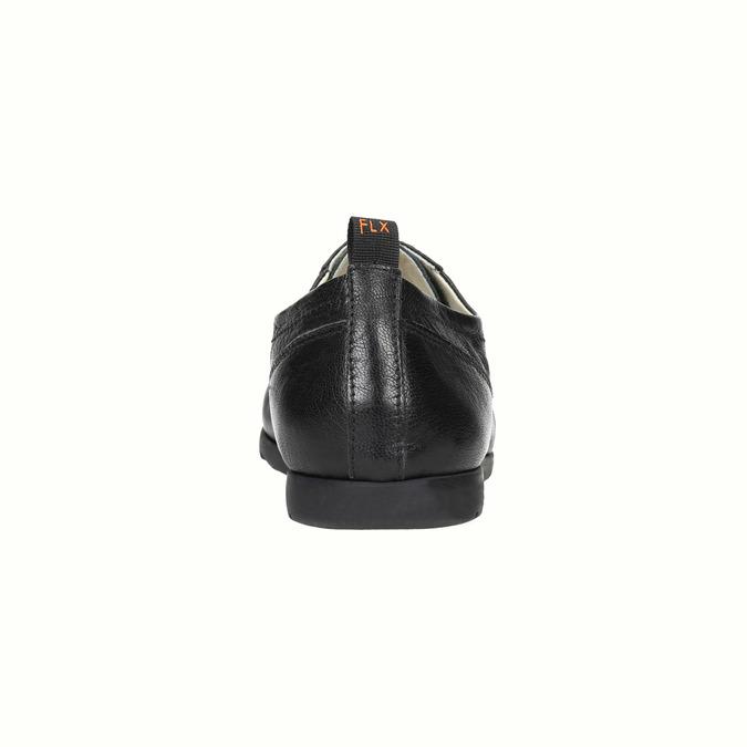 Chaussure lacée en cuir pour femme flexible, Noir, 524-6565 - 17