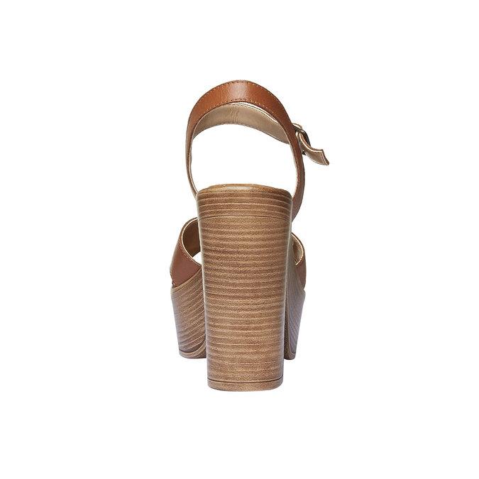 Sandale femme avec lanières en cuir bata, Brun, 764-4511 - 17