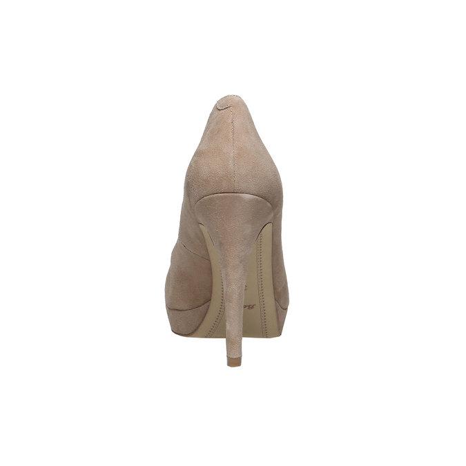 Escarpin à plateforme en cuir bata, Jaune, 723-8820 - 17