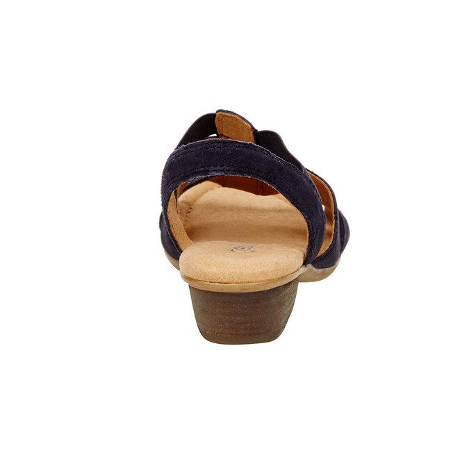 Sandale en cuir femme gabor, Violet, 666-9002 - 17