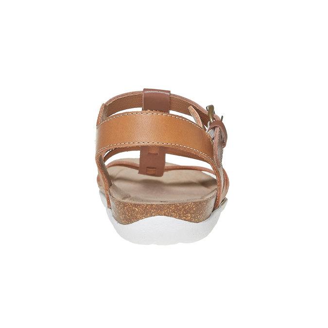 Sandale en cuir femme weinbrenner, Brun, 564-3315 - 17