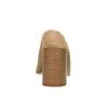 Mule en cuir à talon large bata, Brun, 763-3516 - 17