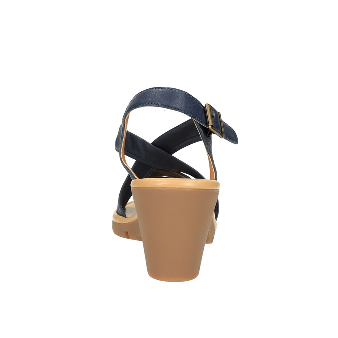 Sandale en cuir femme flexible, Violet, 764-9538 - 17