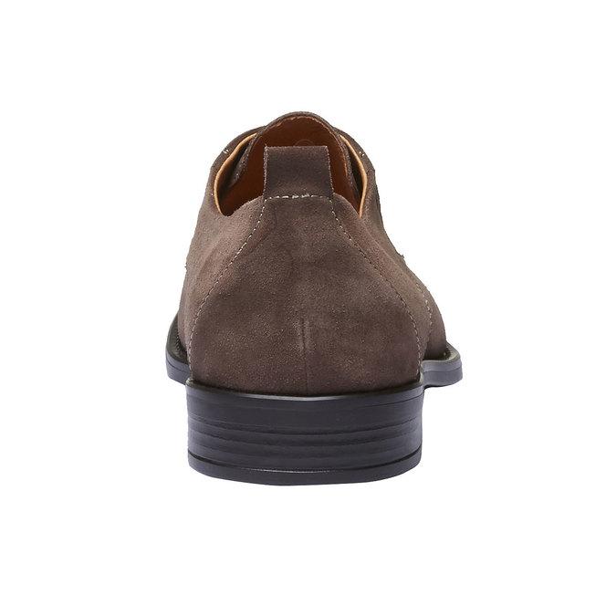 Chaussure lacée Derby en cuir bata, Brun, 823-4807 - 17