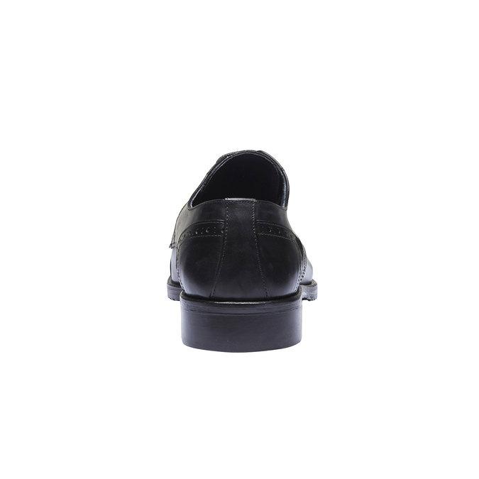Chaussure lacée Derby en cuir bata, Noir, 824-6809 - 17