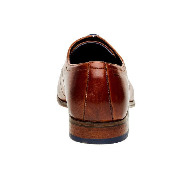 Chaussure lacée Derby en cuir bugatti, Brun, 824-4303 - 17