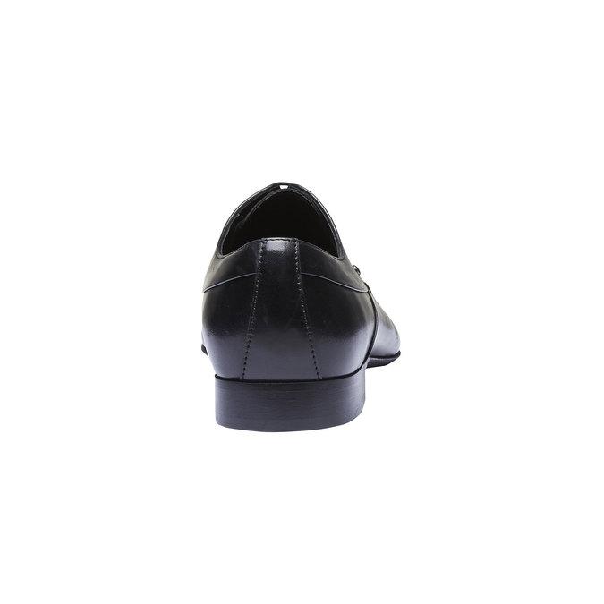 Chaussure lacée en cuir pour homme, Noir, 824-6708 - 17