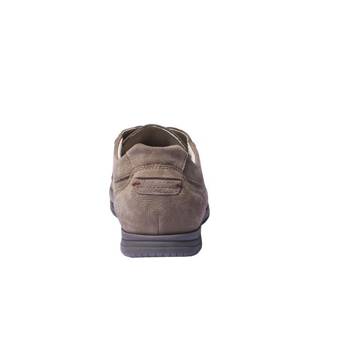 Chaussures de sport lacées en cuir bata, Brun, 856-4259 - 17