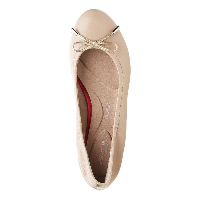 Ballerine en cuir couleur peau rockport, Beige, 524-8121 - 19