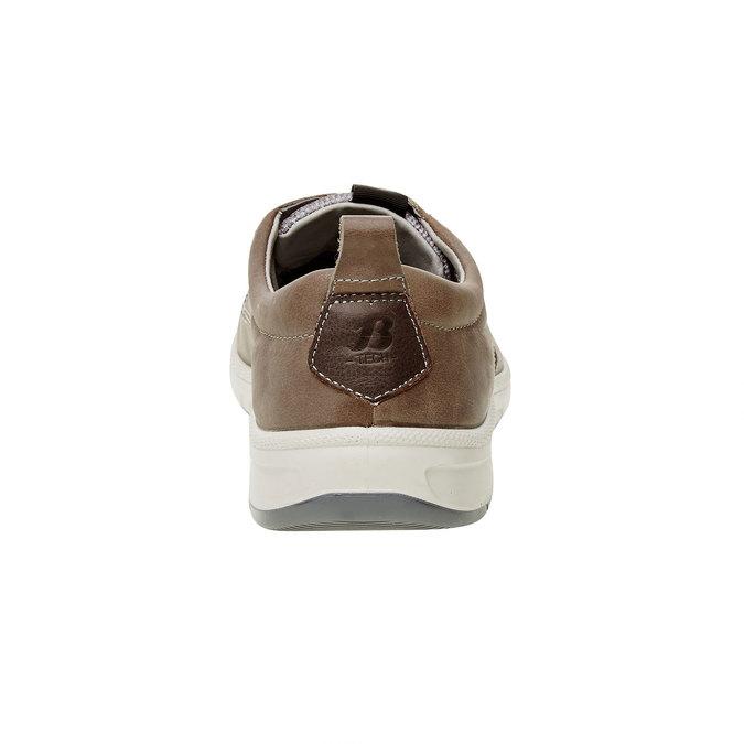 Basket décontractée en cuir, Brun, 846-2630 - 17