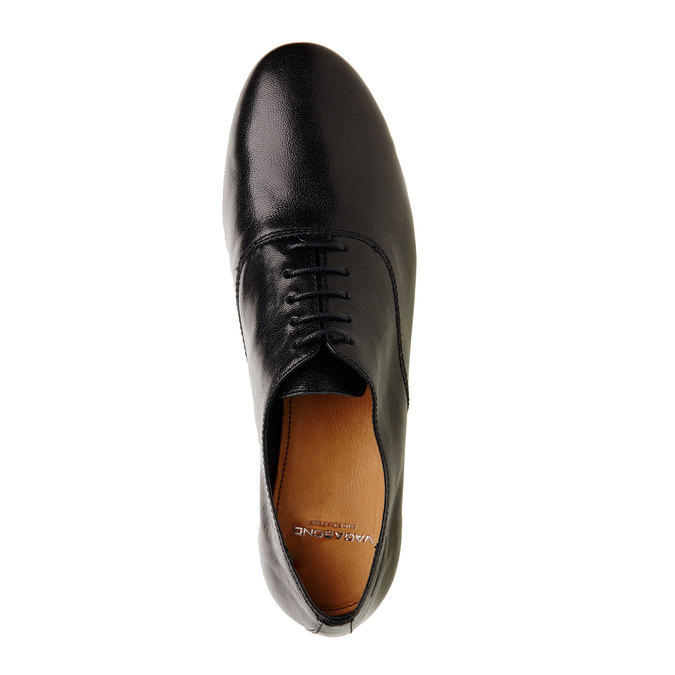 Chaussure lacée en cuir pour femme vagabond, Noir, 524-6013 - 19