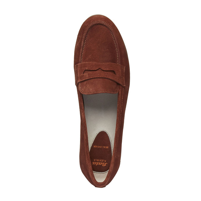 Penny Loafers en cuir flexible, Brun, 513-3196 - 19