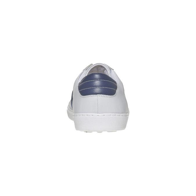 Basket blanche en cuir bata, Blanc, 844-1639 - 17