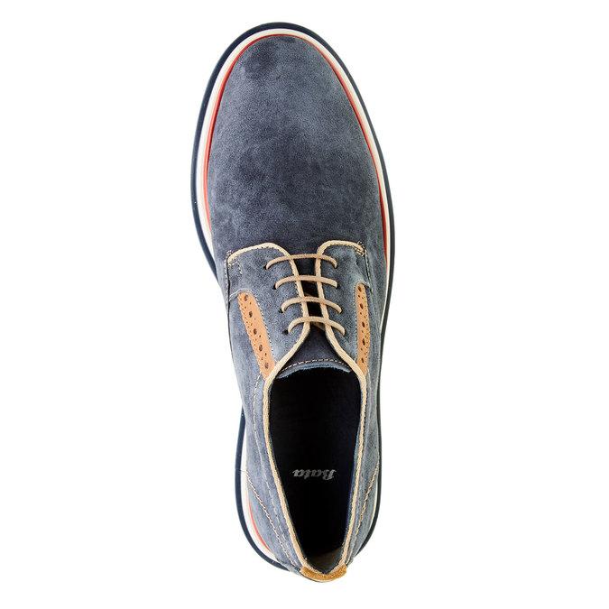 Chaussure lacée en cuir pour homme bata, Bleu, 823-9814 - 19