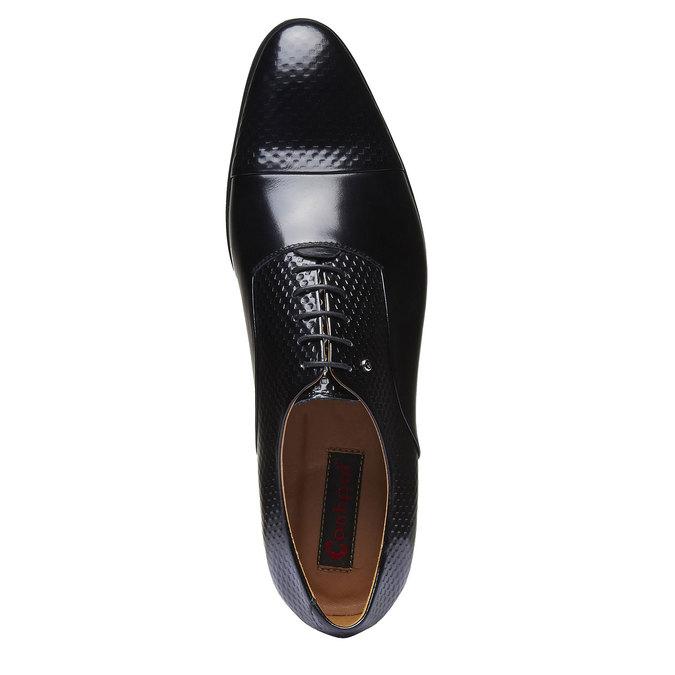Chaussure lacée en cuir pour homme, Noir, 824-6819 - 19