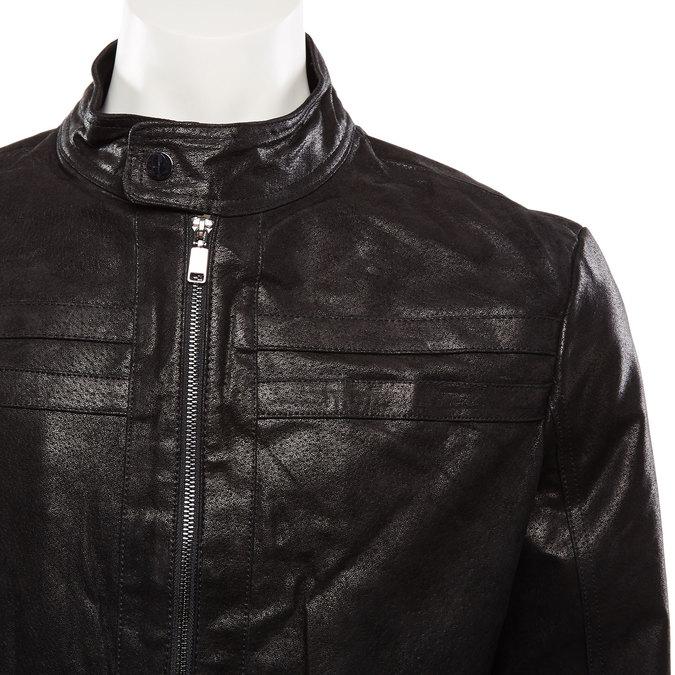 Veste en cuir pour homme bata, Noir, 973-6109 - 16
