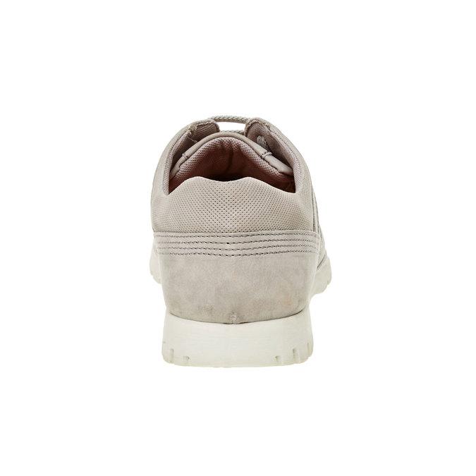 Basket décontractée en cuir flexible, Beige, 846-2650 - 17