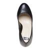 Escarpin en cuir à plateforme bata, Noir, 724-6518 - 19