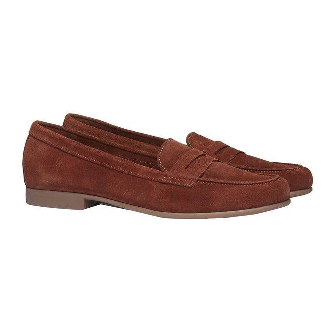 Penny Loafers en cuir flexible, Brun, 513-3196 - 26