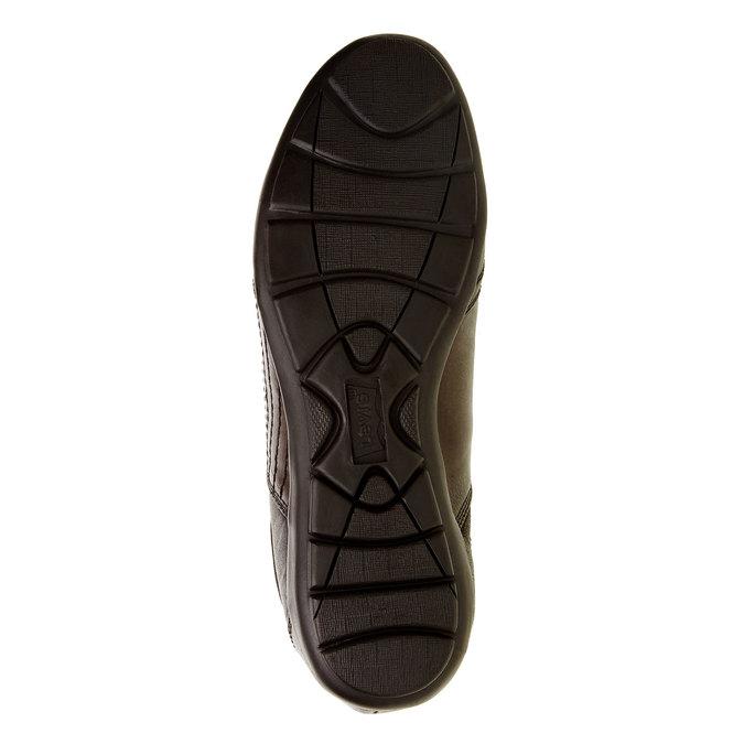 Basket décontractée en cuir levis, Brun, 844-4544 - 26