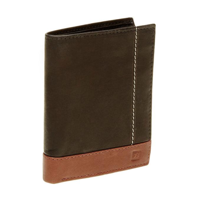 Porte-monnaie en cuir pour homme bata, Noir, 944-6150 - 13