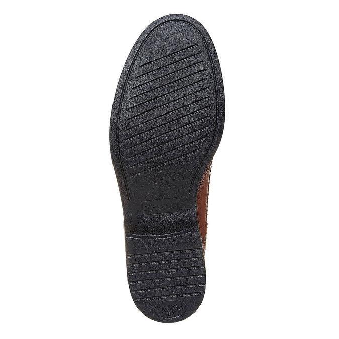 Chaussure lacée en cuir femme à semelle épaisse bata, Brun, 524-3356 - 26
