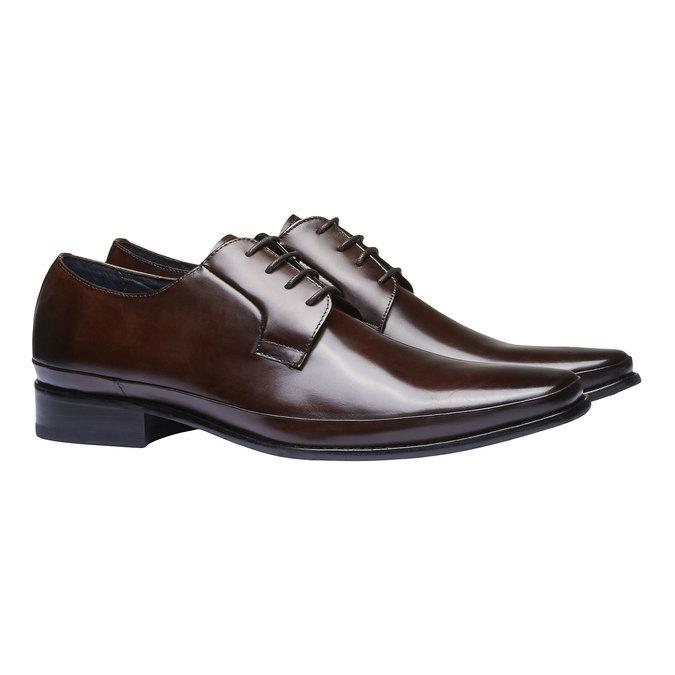 Chaussure lacée Derby en cuir bata, Brun, 824-4550 - 26