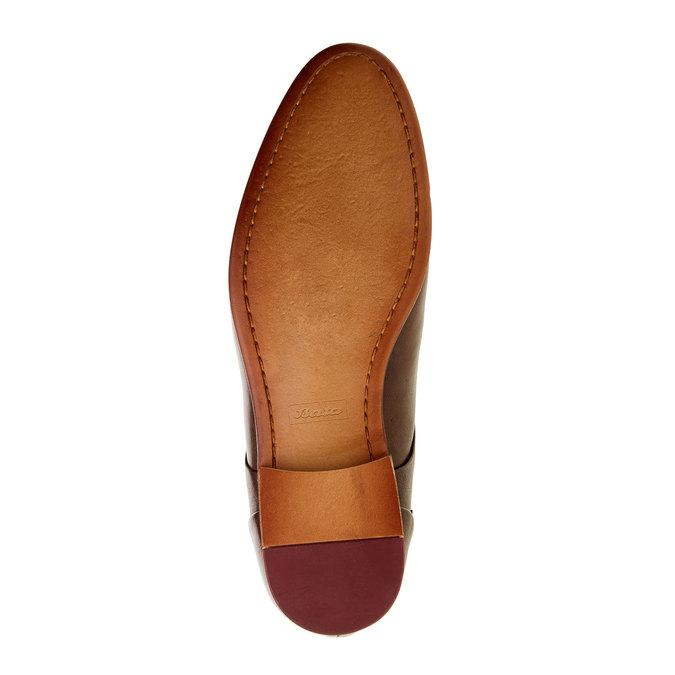 Chaussure lacée Derby en cuir bata, Brun, 824-4538 - 26
