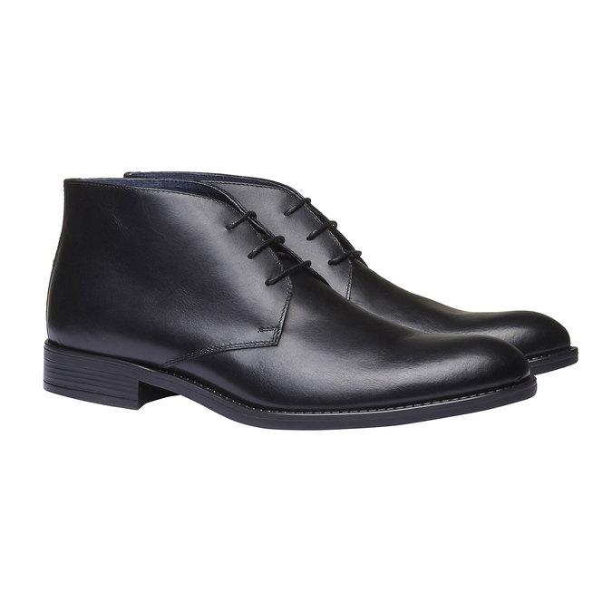 Boots Chukka en cuir bata, Noir, 894-6439 - 26