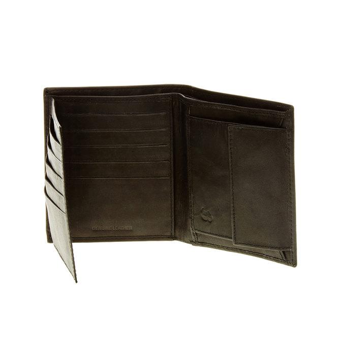 Porte-monnaie en cuir surpiqué bata, Noir, 944-6148 - 16