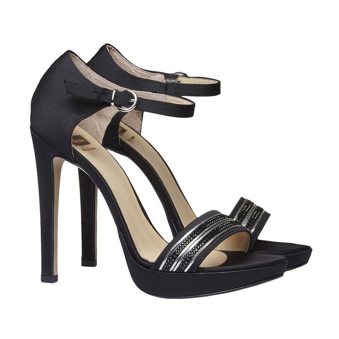 Sandale à talon Stiletto haut bata, Noir, 769-6555 - 26