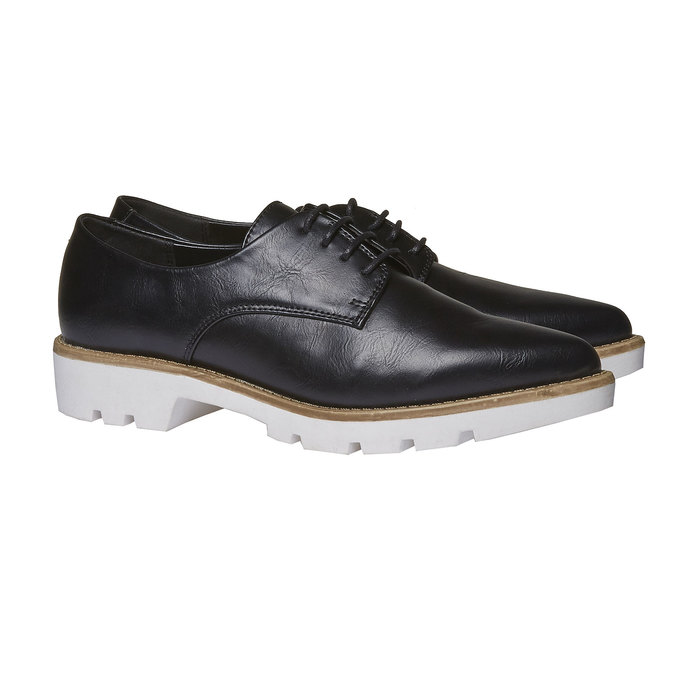 Chaussure basse à semelle épaisse bata, Noir, 521-6480 - 26