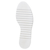 Chaussures en cuir à flatform bata, Brun, 524-3255 - 26