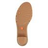 Sandale en cuir femme flexible, Violet, 764-9538 - 26