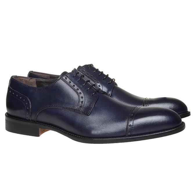 Chaussures bleues en cuir bata-the-shoemaker, Bleu, 824-9192 - 26