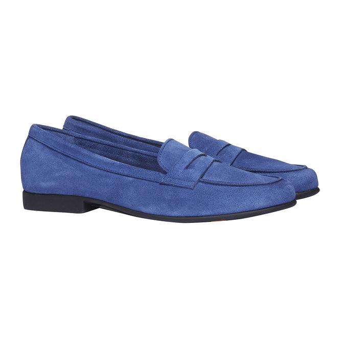 Penny Loafers en cuir flexible, Violet, 513-9196 - 26