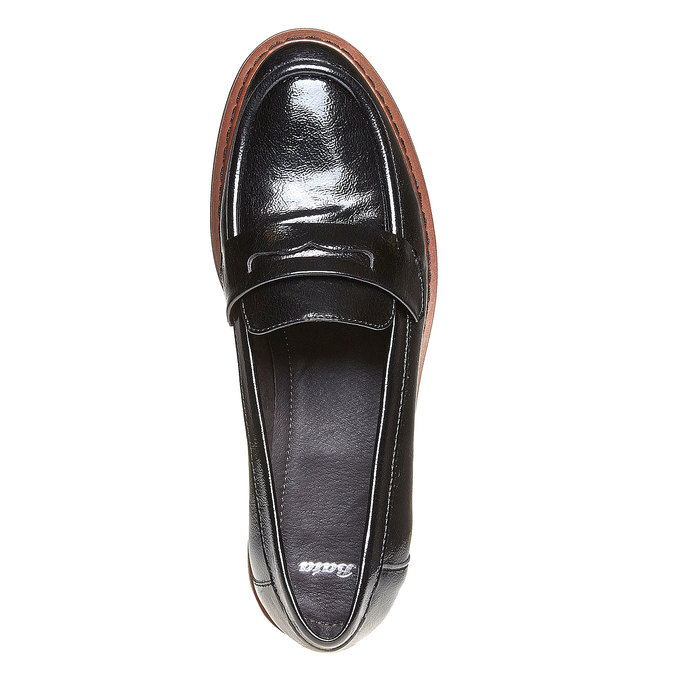 Loafers femme à semelle épaisse bata, Noir, 511-6239 - 19